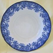 "Large Flow Blue Bowl   Doulton  Pattern ""Melrose"" 1800's"