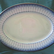 Large Flow Blue Platter   Pattern Grecian    Ford and Sons
