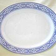 Large Purple Transferware Platter   Pattern  Tudor