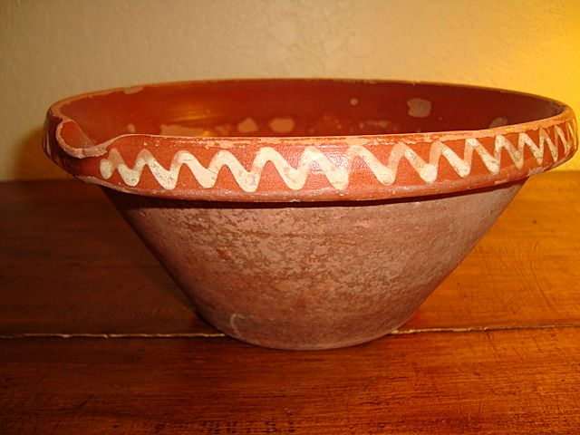 French Alsatian mixing bowl tian late 1800