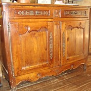 French Provincial carved Louis XV sideboard buffet late 1700