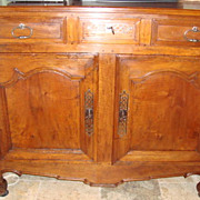 French Provincial Louis XV carved sideboard buffet late 1700