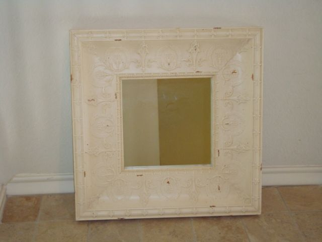 French wall painted mirror iron
