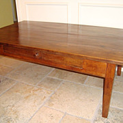 19th century French Coffee table desk with one drawer circa 1860