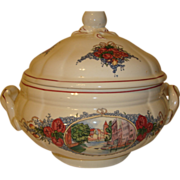 Large French soup tureen by Obernai Sarreguemines, Alsace