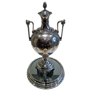 Grand Antique English Silver Plated Urn By Elkington - 1867