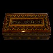 Antique English Tunbridge Ware Matches Box / Vesta c.1870