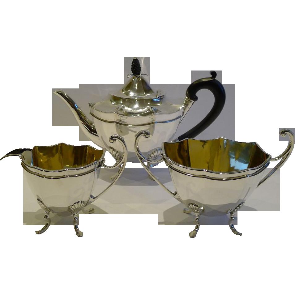 Elegant Antique English Silver Plated Tea Set c.1880 by Thomas Latham & Ernest Morton