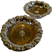 Large Grand & Elegant Pair Victorian Silver Plated Wine or Champagne Coasters c.1880
