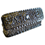 Antique English Sterling Silver Ring Box for Two Rings - 1901