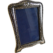 Antique English Arts & Crafts Sterling Silver Photograph Frame - 1909