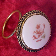 Vintage WESTERN GERMANY© Porcelain Hand Painted Dress Clip