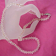Charming  Lucite BICONE CRYSTAL 1930 Necklace