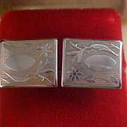 1950's Engravable Gold Plate Cuff Links