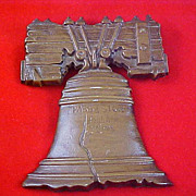 Brass Like Cast LIBERTY BELL ~ Signed & Numbered Wall Plaque