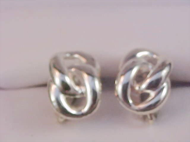 NAPIER ~ Double Knot Silver Plate Clip/Comfort Screws Earrings