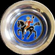Vintage Sterling Enamel Norway O.F. Hjortdahl Pin Tray Open Salt Cellar