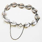 Vintage 830 Silver Denmark Eiler & Marloe Leaf Bracelet Arts & Crafts