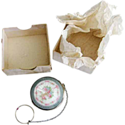 Antique Foster & Bailey Sterling Enamel Tango Compact MINT in box