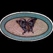 Antique Edwardian F.A. Hermann Sterling Enamel Brooch Pin Butterfly