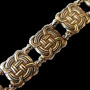 Early David-Andersen 830 Silver Bracelet Celtic Viking Knotwork