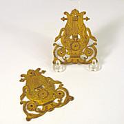 Original P.E Guerin gilt bronze Empire furniture hardware-Swans Lyres