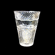 Beautiful vintage cut and engraved glass vase