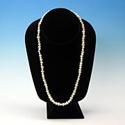 """Vintage 21"""" long strand natural shape large cultured pearls 7mm"""