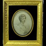 Fine original gilded bronze picture frame for portrait photograph