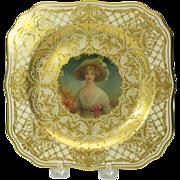 Royal Doulton portrait cabinet plate by Leslie Johnson