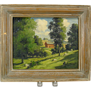 Bertram Bruestle oil painting Old Lyme farm CT listed artist