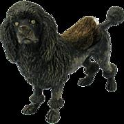 Big antique Vienna bronze black POODLE dog pen wipe