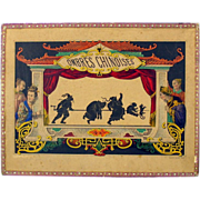 Early French Game Ombres Chinoises Shadow theater set all original 1860's