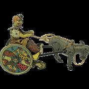 Antique Lehman mechanical Balky Mule clockwork German tin toy