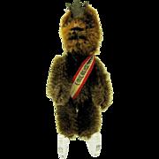 Sweet vintage Schuco Berlin Teddy bear made as a coat pin