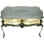 Large Dominick & Haff solid sterling silver miniature table jewelry dresser box
