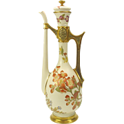 "Monumental 1880's Royal Worcester porcelain fantasy Coffee or tea pot 16"" tall"