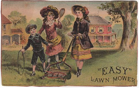 Easy Lawn Mower Trade Card