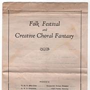 D. H. S. Program Folk Festival and Creative Choral Fantasy