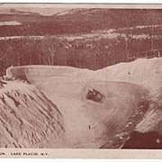 Olympic Bob Run Lake Placid New York NY Postcard