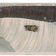 Whiteface Curve Olympic Bob Run Lake Placid NY PC