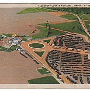 Allegheny County Airport Pittsburgh PA Postcard
