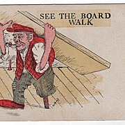 Comic 1906 Undivided Back See the Board Walk Postcard
