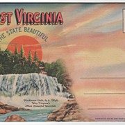 Souvenir Folder of WV West Virginia The State Beautiful