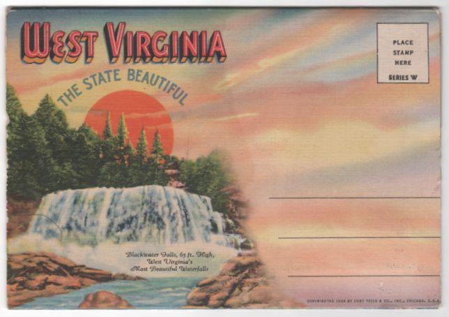 Souvenir Folder of WV West Virginia The State Beautiful