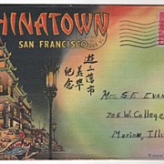 Souvenir Folder of Chinatown San Francisco CA California