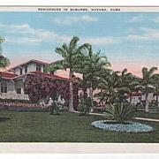 Residences in Suburbs Havana Cuba Postcard
