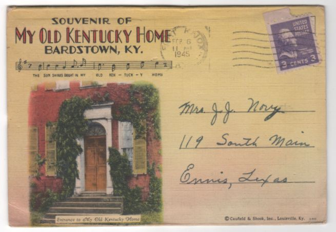 Souvenir of My Old Kentucky Home Bardstown KY Kentucky