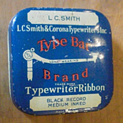 Type Bar L C Smith & Corona Typewriter Ribbon Tin