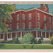 Henderson Dormitory Carson-Newman College Jefferson City TN Tennessee Postcard